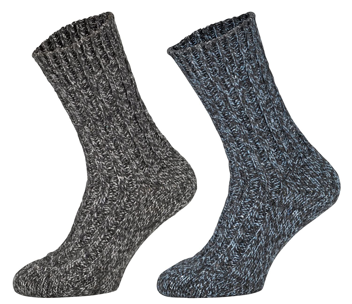Tobeni 4 Pairs of thick warm Norwegian Socks Pre-washed Winter Wool Socks for Women and Men 132.021