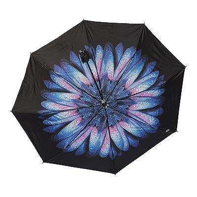 2 in 1 Selfie Stick Umbrella with Remote Shutter Compact Folding Travel Umbrella