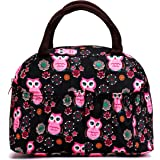Colorful Style Polyester Lunch Bag Lunch Box Package Resable Shop Tote Bag Purse for Women Girls