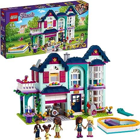 LEGO41449FriendsCasaFamiliardeAndreaJuguetedeConstrucciónCasadeMiniMuñecasconPiscinaEstudiodeMúsica