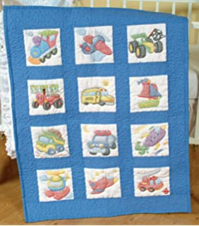 Amazon.com: St&ed Cross-Stitch Quilt Blocks, Little Explorer ... : cross stitch quilt kits - Adamdwight.com