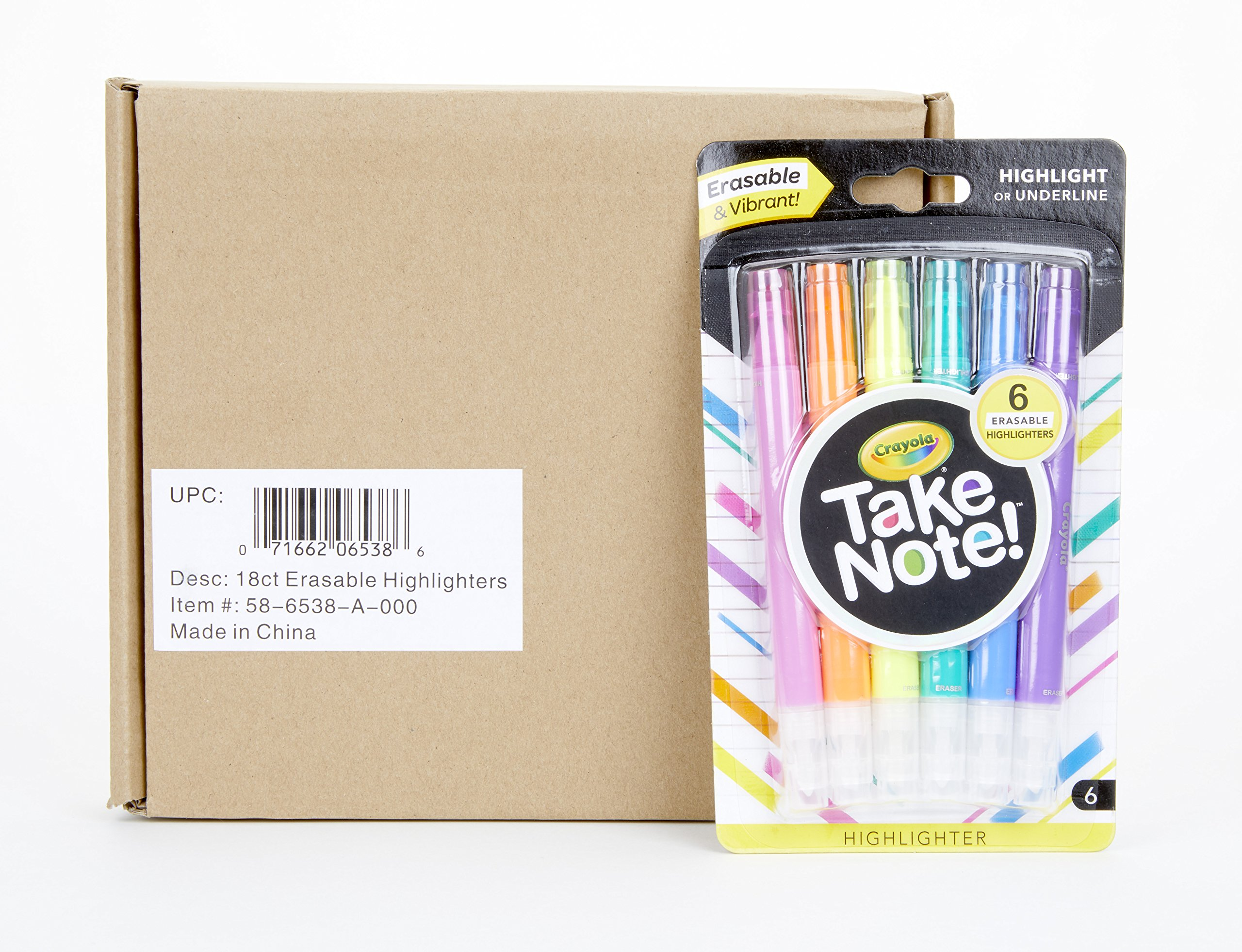 Crayola Take Note! Erasable Highlighters, Bullet Journal & School Supplies, 18Count, Gift by Crayola (Image #3)