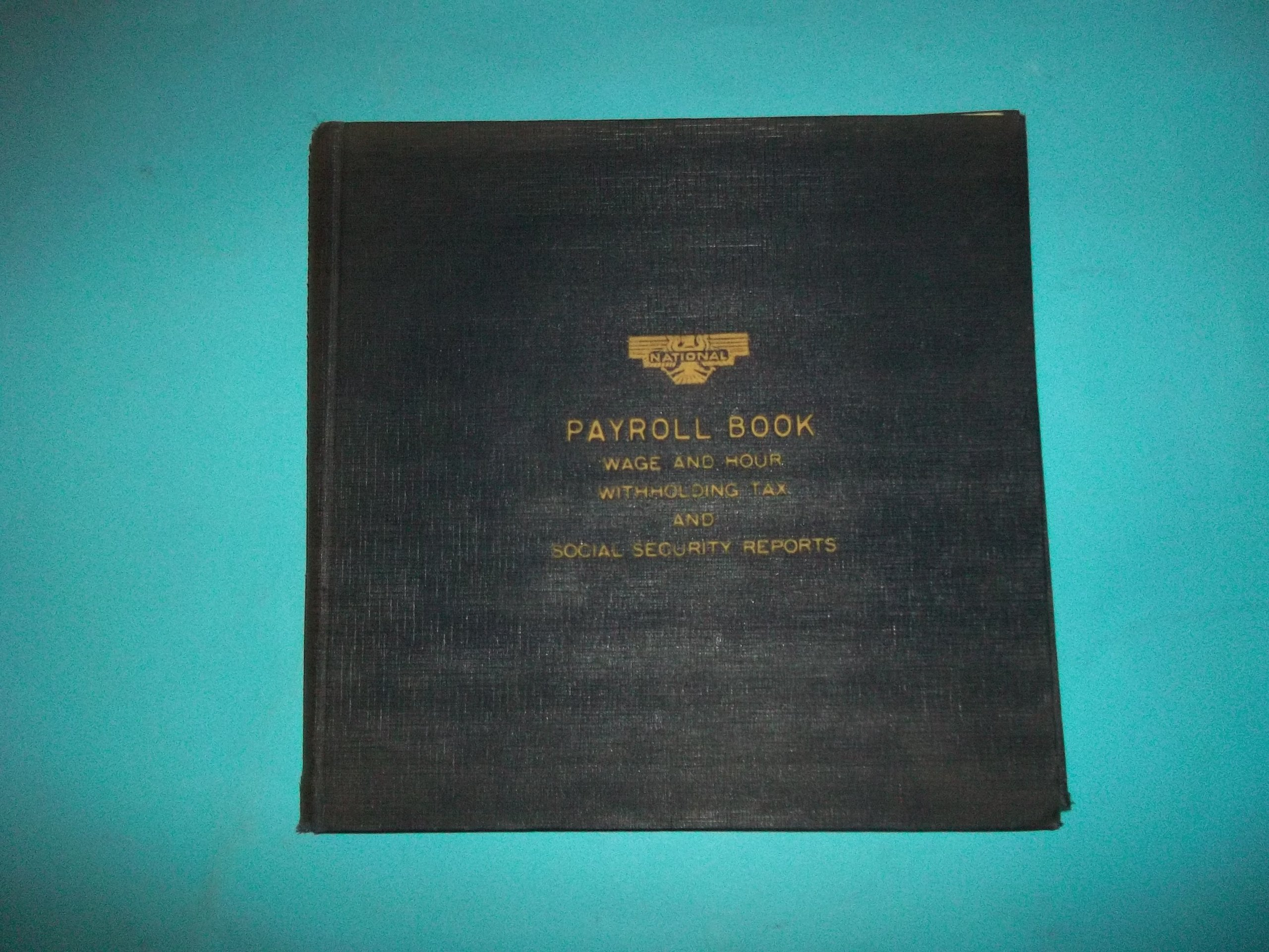 National 34-561 Payroll Book Black by National Blank Book Company