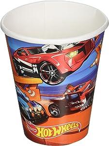 Amscan 581551 Hot Wheels Wild Racer Cups, 9 oz., 8 pcs, Party Favor