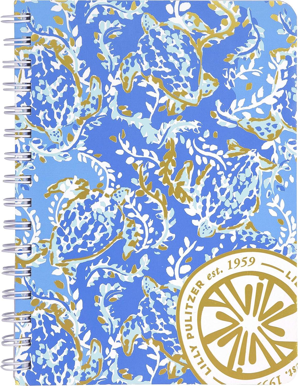 Lilly Pulitzer Women's Blue Mini Spiral Notebook, 8.25