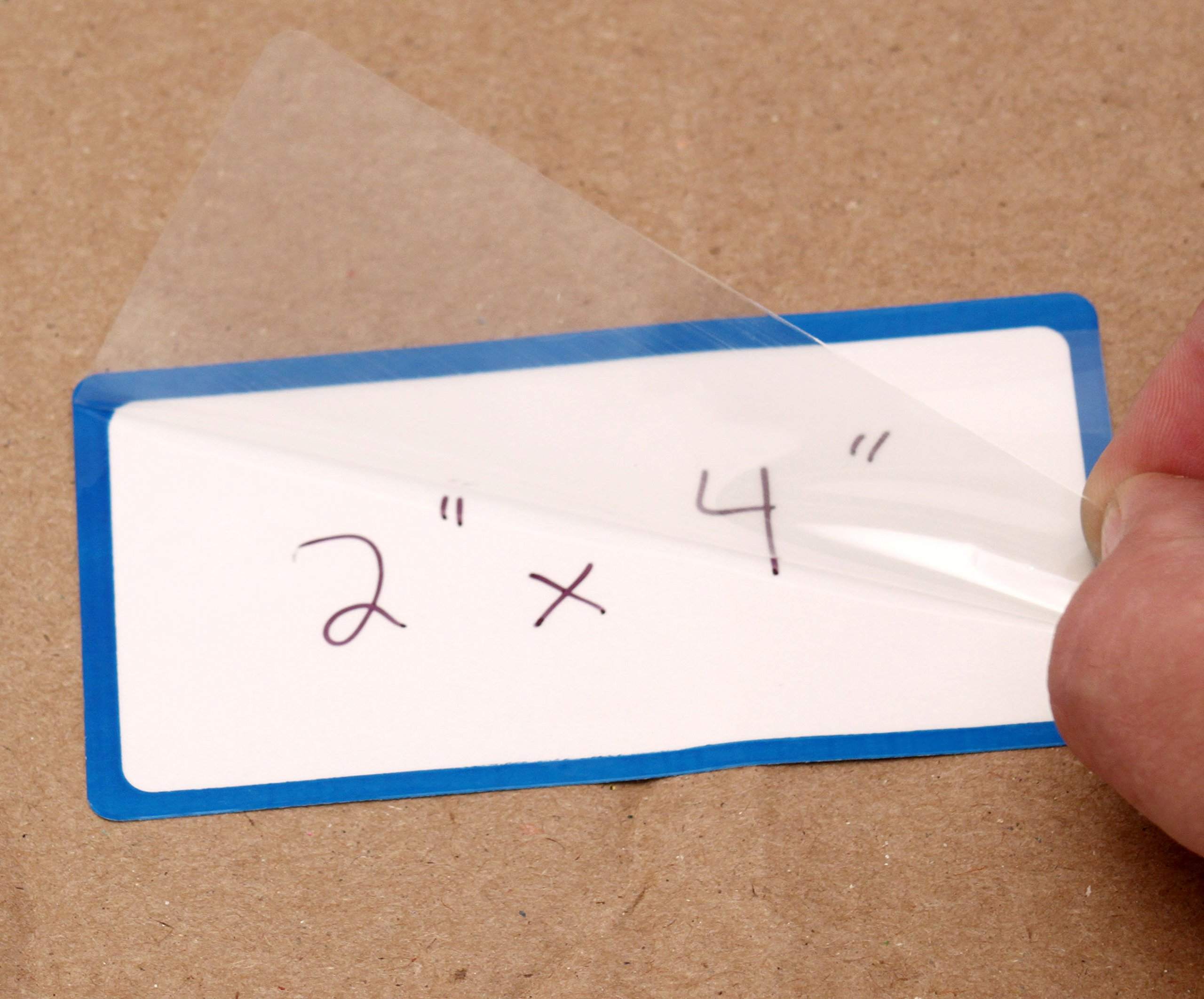ChromaLabel 2 x 4 inch Dry Erase Labels | 50/Box (Blue Border)