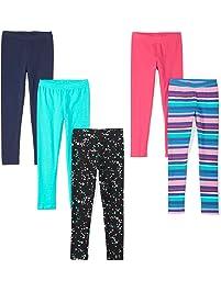 d5d3b12da9e Amazon Brand - Spotted Zebra Girls  5-Pack Leggings