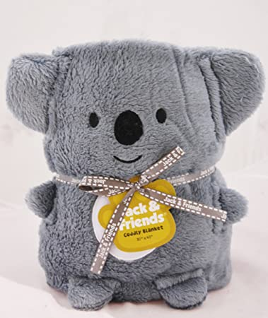 1fd685ae7 Amazon.com: Jack and Friends Cuddly Animal Baby Koala Blanket: Baby