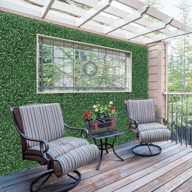recinzioni with White Flower Piante Artificiali siepe Artificiali per Privacy Recinzione per la Privacy Pannelli di bosso Artificiale 50,8 cm L x 50,8 cm H 12 Pezzi