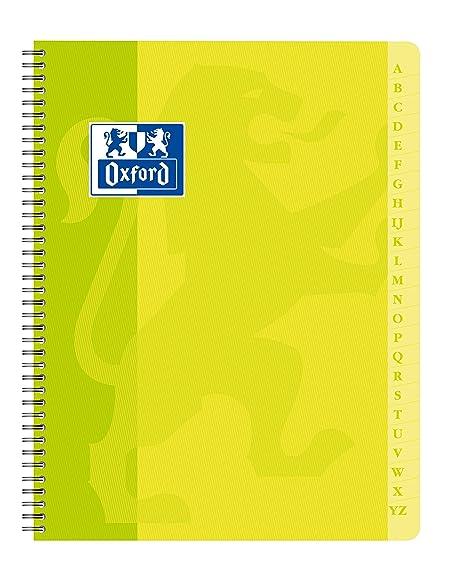 Oxford 100101192, Agenda Directorio con Espiral, 17 x 22 cm, 180 páginas, cuadrícula pequeña de 5 x 5, Colores Surtidos