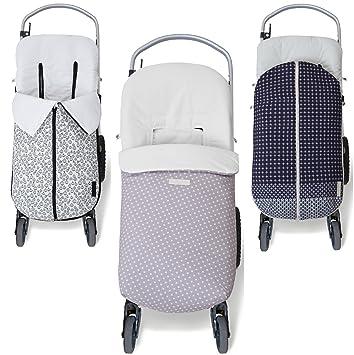 NBB - Saco Universal de algodón para Silla de Paseo - colección Primavera- Verano (Bugaboo, Mclaren, etc.), Tokyo Grey Stars: Amazon.es: Bebé