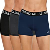"G Gradual Women's Spandex Compression Volleyball Shorts 3"" Workout Pro Shorts for Women"