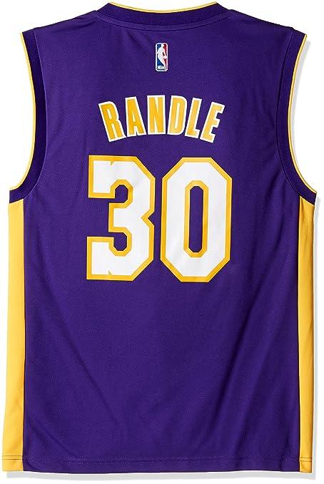 competitive price e1e1e f8fd5 NBA Los Angeles Lakers Julius Randle #30 Men's Road Replica Jersey, Medium,  Purple