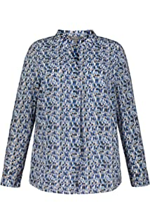 Ulla Popken Womens Plus Size Ornamental Vintage Print Blouse 721853