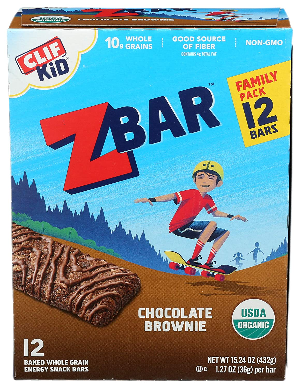 Clif, Bar Z Chocolate Brownie Organic 12 Count, 15.24 Ounce
