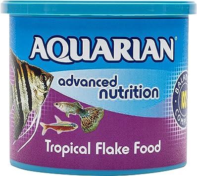 Aquarian Complete Nutrition Aquarium Tropical Fish Food Flakes 200 G Container Amazon Co Uk Pet Supplies