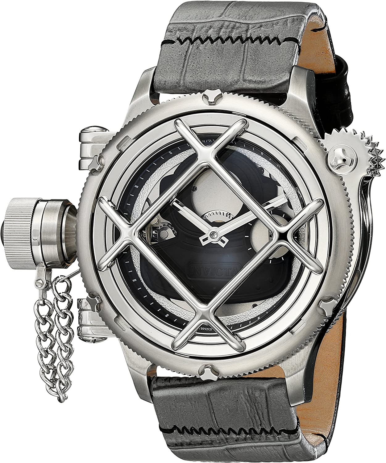 Invicta Men s 14819 Russian Diver Analog Display Mechanical Hand Wind Grey Watch