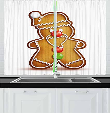 Gingerbread Kitchen Curtains Custom Decorating Ideas