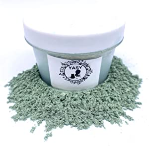 1 OZ Mica Powder in Containers Epoxy Resin Pigment for DIY Soap Making Bath Bomb Colorant Paint Nail Art Eyeshadow Makeup Dye (Moss Green)