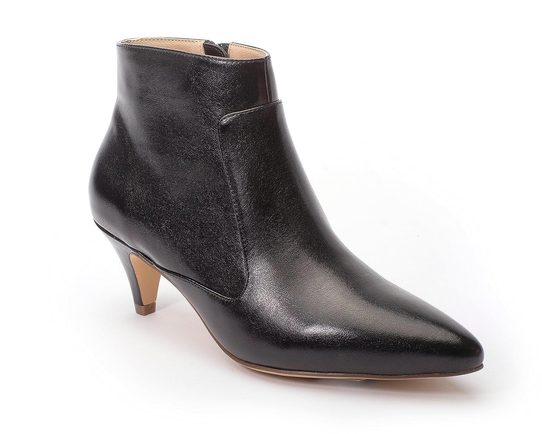 Jane and the Shoe Women's Kizzy Kitten Heel Ankle Boot B07DG1CG1S 7 M US Black