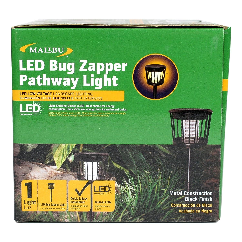 Malibu LED Bug Zapper Pathway Landscape Light, Black Metal, Zaps Bugs and Mosquitos - - Amazon.com