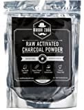 Activated Charcoal Powder Toothpaste by Moody Zook - Organic Teeth Whitening Charcoal Toothpaste Coconut Powder - Natural Food Grade Face Mask Raw Charcoal Powder, Detox, Digestion, Skin Care