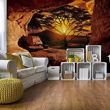 VLIES Fototapete Fototapeten Tapeten  AFRIKA NATUR SONNE AUSBLICK  14N770VEXXL