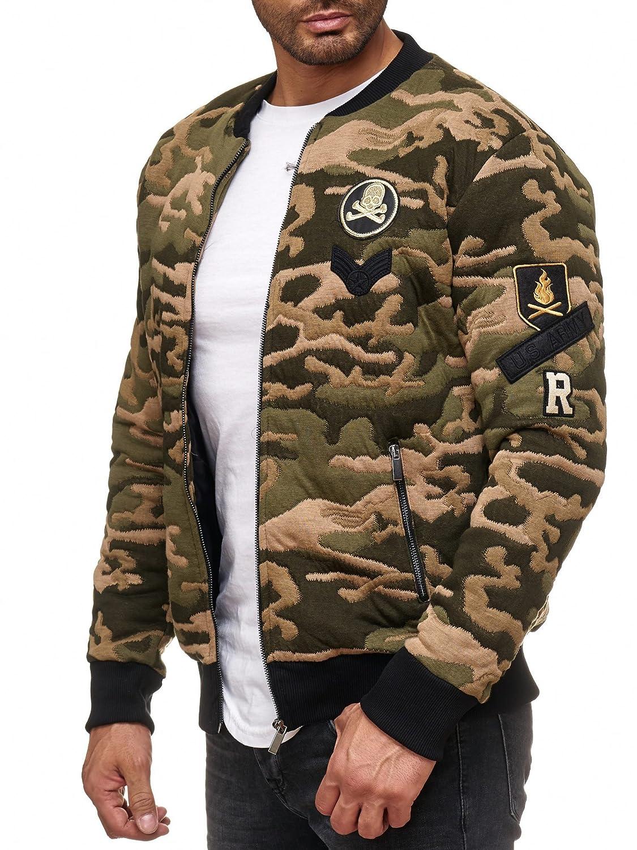TALLA M. Redbridge Hombres Chaqueta Bomber Camuflaje Abrigos College Jackets Moda Chaquetas