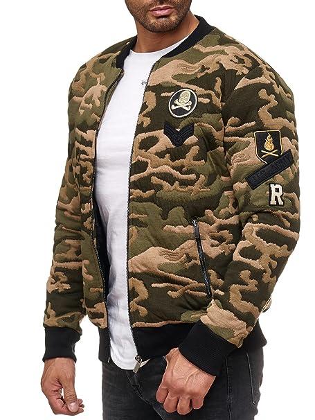 Redbridge Hombres Chaqueta Bomber Camuflaje Abrigos College Jackets Moda Chaquetas: Amazon.es: Ropa y accesorios