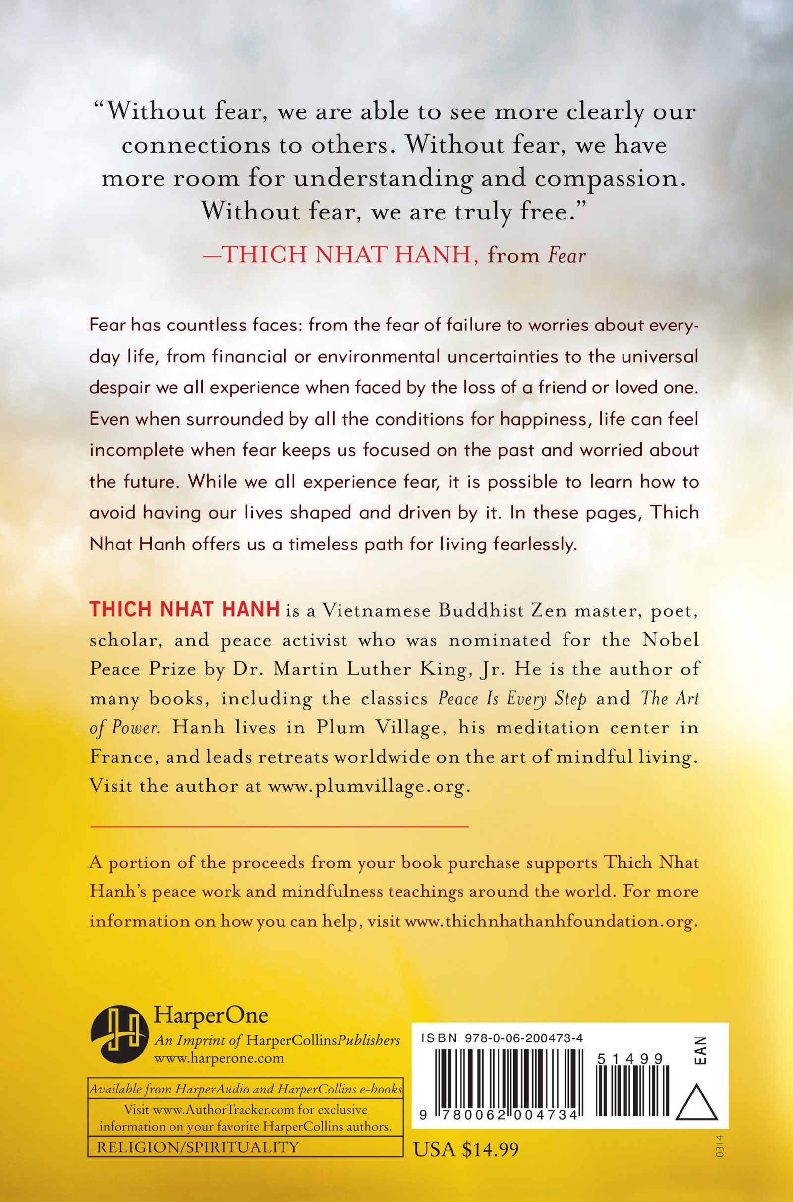 Amazon: Fear: Essential Wisdom For Getting Through The Storm  (9780062004734): Thich Nhat Hanh: Books