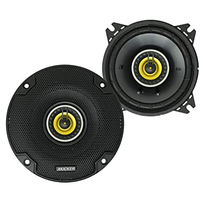 KICKER CS Series CSC4 4 Inch Car Audio Speaker with Woofers, Yellow (2 Pack): Automotive
