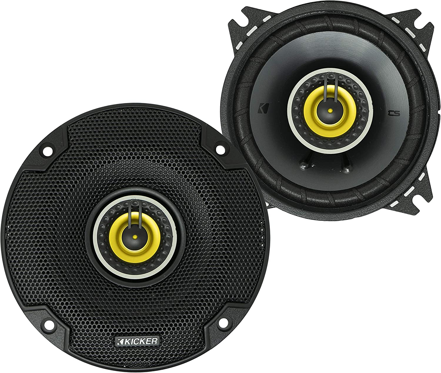 "Kicker 46CSC44 Car Audio 4"" Coaxial Full Range Stereo Speakers Pair 4 Ohm CSC4"