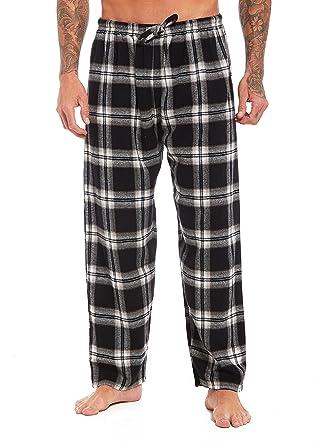 Habigail Mens Check Pyjama Bottoms - 100% Cotton Lounge Pant Cozy Soft Warm  Pants ( 3541504d0