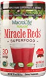 Miracle Reds Superfood - Super Red Powder - Non Allergenic Proprietary Fruit Blend - Anti Aging Anti Oxidants - Polyphenols & Heart Friendly Plant Sterols - Delicious & Nutritous - Non GMO - Vegan - Gluten & Dairy Free - Berry Taste - 30 Servings - 10 oz (283.5 g)