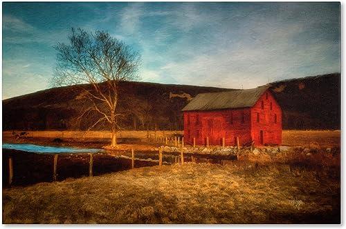 Red Barn at Twilight Artwork