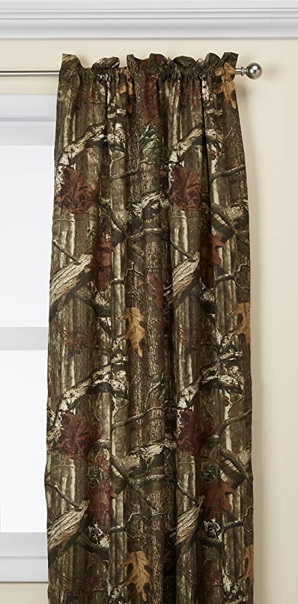 Amazon Com Mossy Oak Camouflage Curtain Panel 80 Wx84 L Home Kitchen