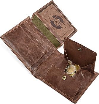 Amazon.com: LEABAGS Austin de piel de búfalo portafolios en ...
