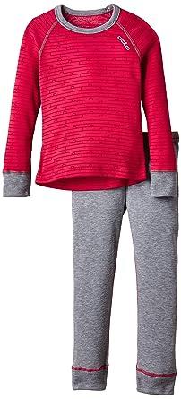 sale retailer f1fd5 449ac Odlo Kinder Funktionsunterwäsche Mädchen Set Warm Kids Shirt Long Sleeve  Pants Long