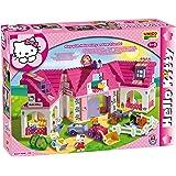 Unico 8678 - Juego de establo (136 piezas, tamaño grande), diseño de Hello Kitty