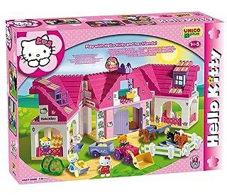 COSTRUZIONE Unico Hello Kitty-Scuderia Grande 136pz 8667 Androni Giocattoli 8667-00HK