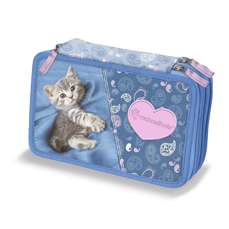 Etui Rachel Hale 3 Scharniere Katze Astro blau