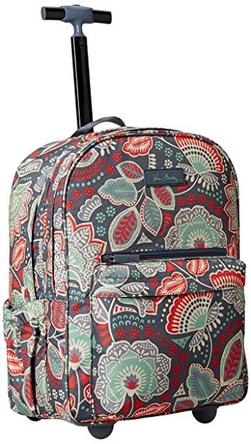 1dc18cbf1483 Amazon.com  Vera Bradley Women s Lighten Up Rolling Backpack ...