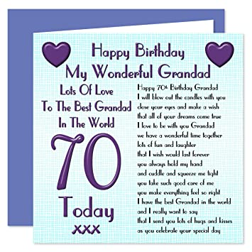 Grandad 70th happy birthday card lots of love to the best grandad grandad 70th happy birthday card lots of love to the best grandad in the world bookmarktalkfo Image collections
