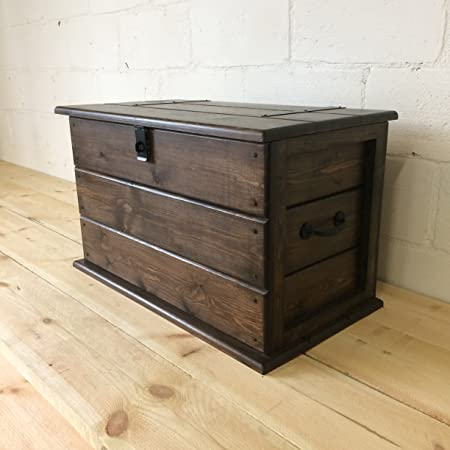 Handmade Solid Pine Church Oak Coloured Trunk. Coffee Table. Toy/Boot Box.