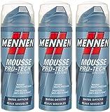 Mennen - Mousse à Raser Homme Pro-Tech Système Barbe Difficile pour Peaux Sensibles - 250 ml - Lot de 3