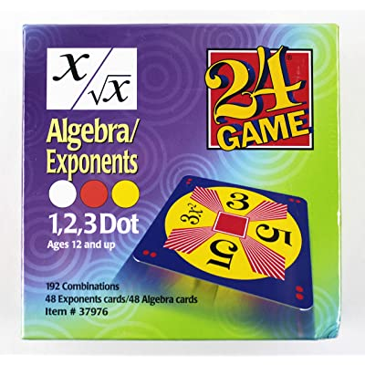 Suntex International 24 Game: Algebra/Exponents (Ages 12+): Toys & Games