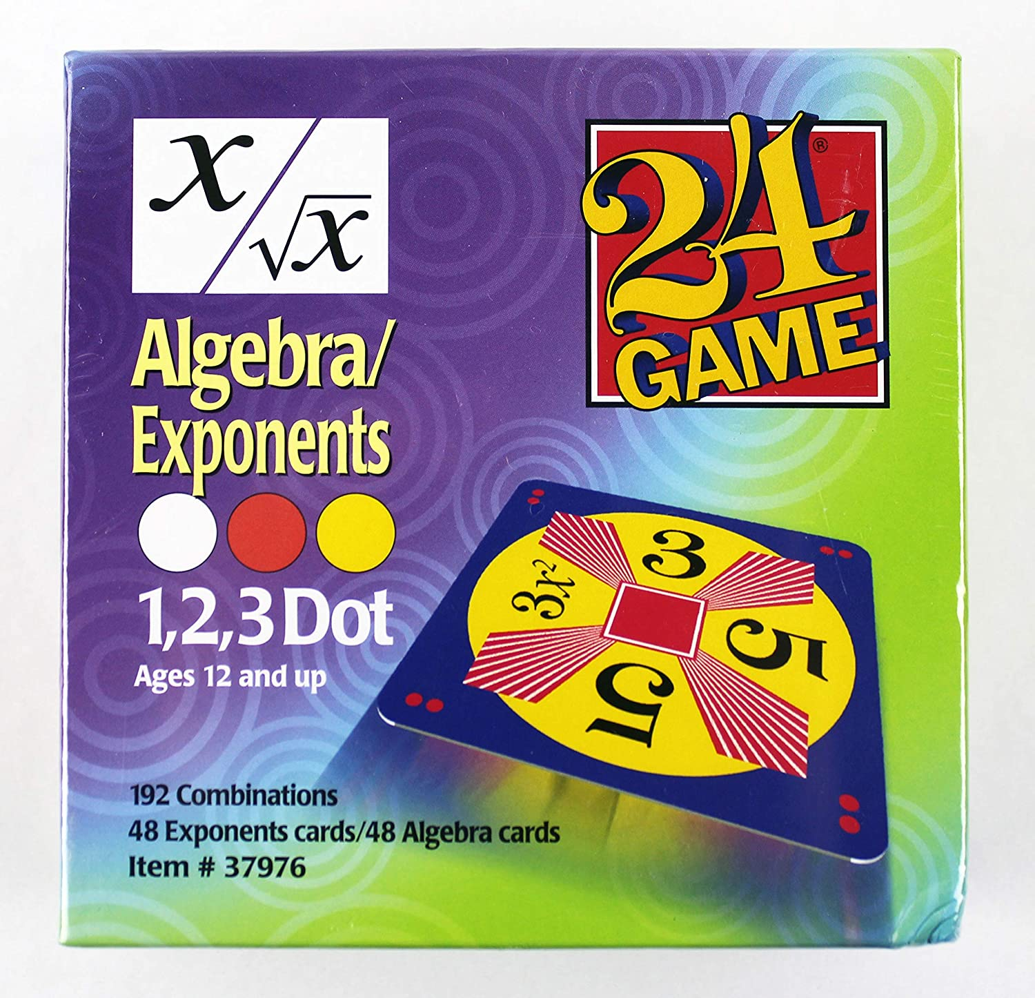 algebra exponenets card game manipulatives