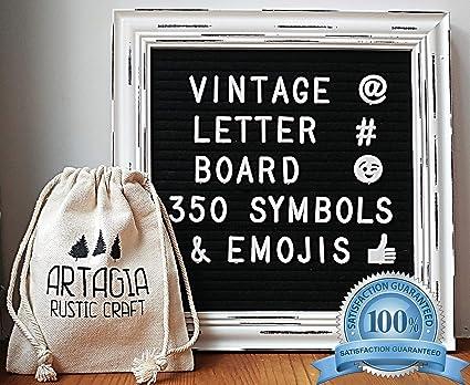 Panneau À lettres noir en feutre 25x25 cm panneau de message en