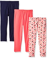 Limited Too Toddler Girls' 3 Pack Jersey Spandex Legging Pant (More Styles Available)