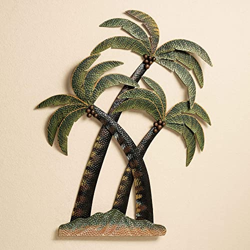 Touch of Class Coco Palm Tree Metal Wall Sculpture